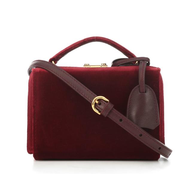 MARK CROSS Grace Mini Box velvet shoulder bag sale