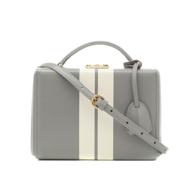 Mark Cross Grace box bag grey sale