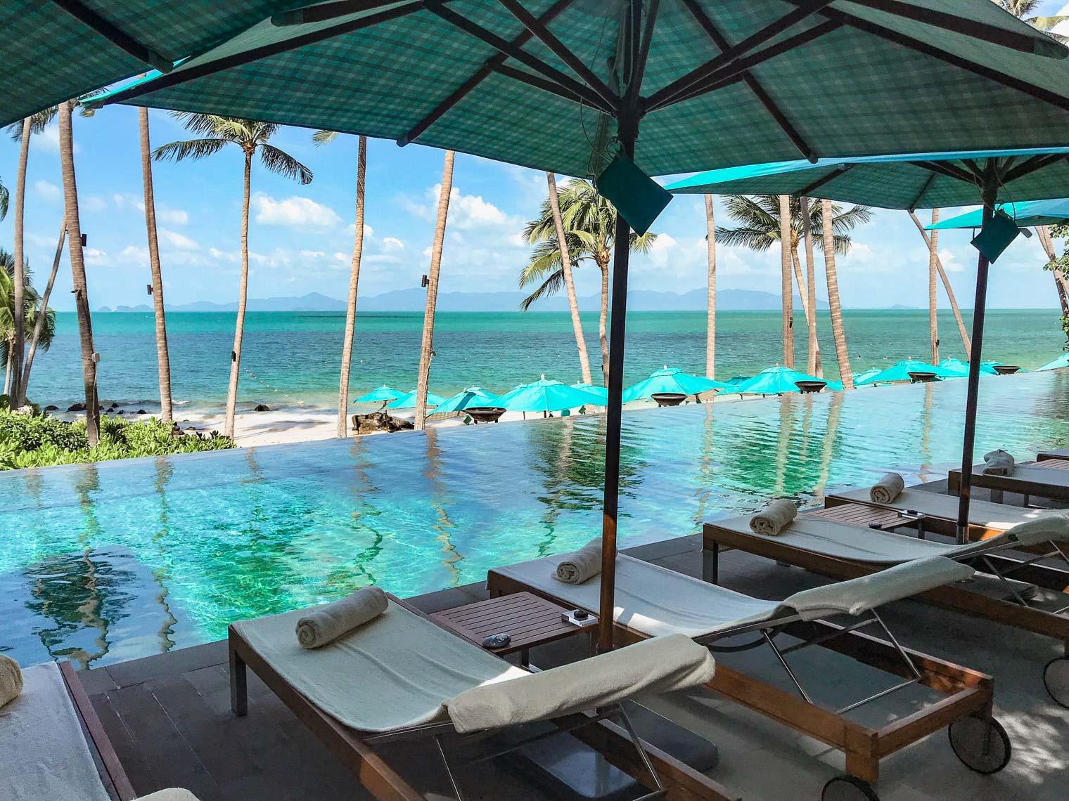 Hotel pool at Four Seasons hotel Koh Samui