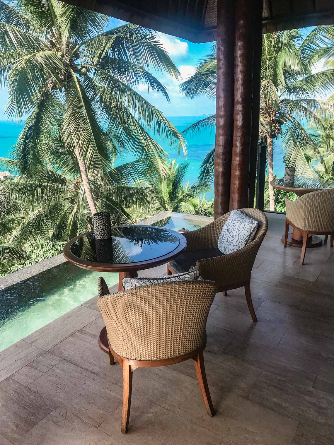 View from the Four Seasons hotel at Koh Samui