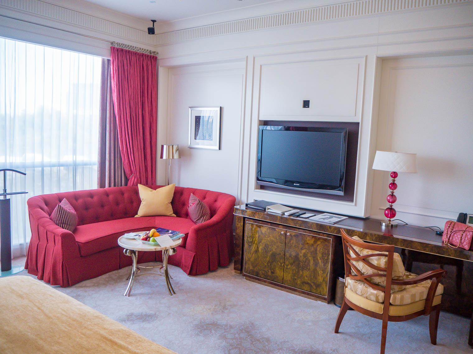Hotel room at St Regis Singapore