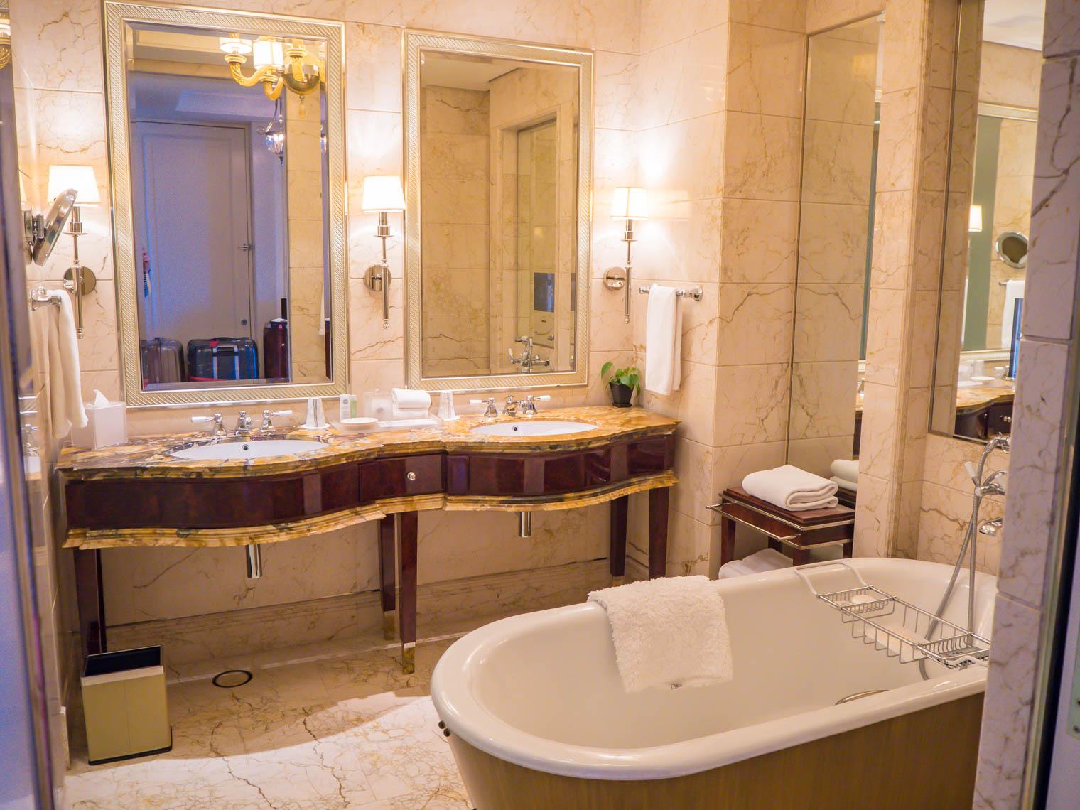 Bathrrom at St Regis hotel Singapore