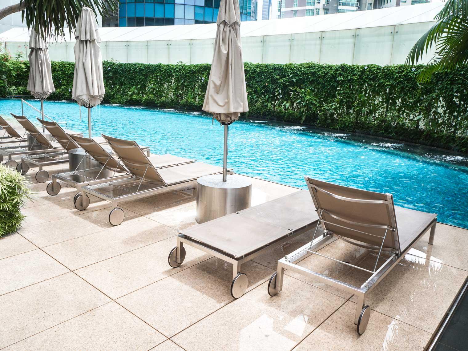 Swimming pool at St Regis hotel Singapore