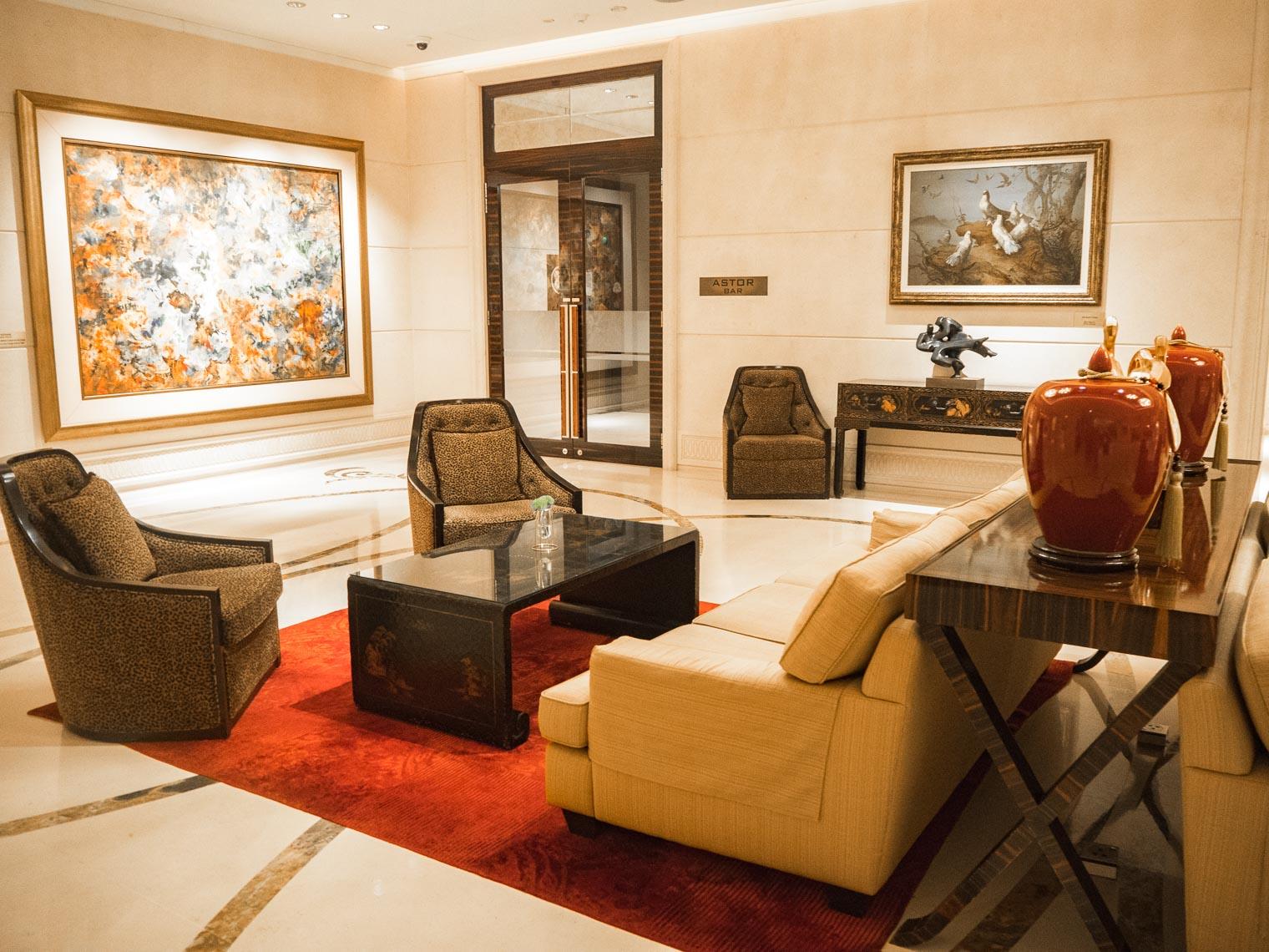 Lobby at St Regis Singapore