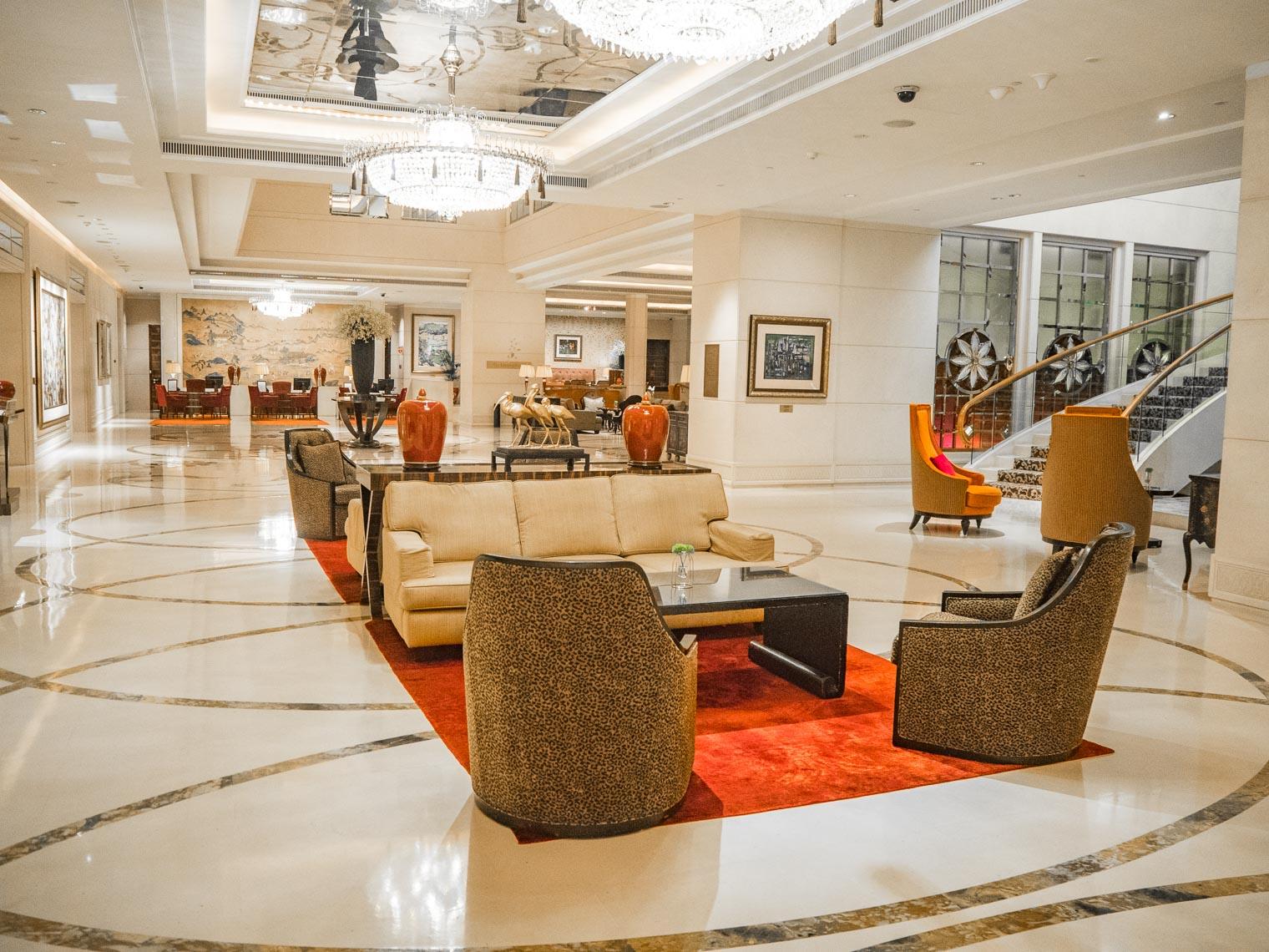 Hotel lobby at St Regis Singapore