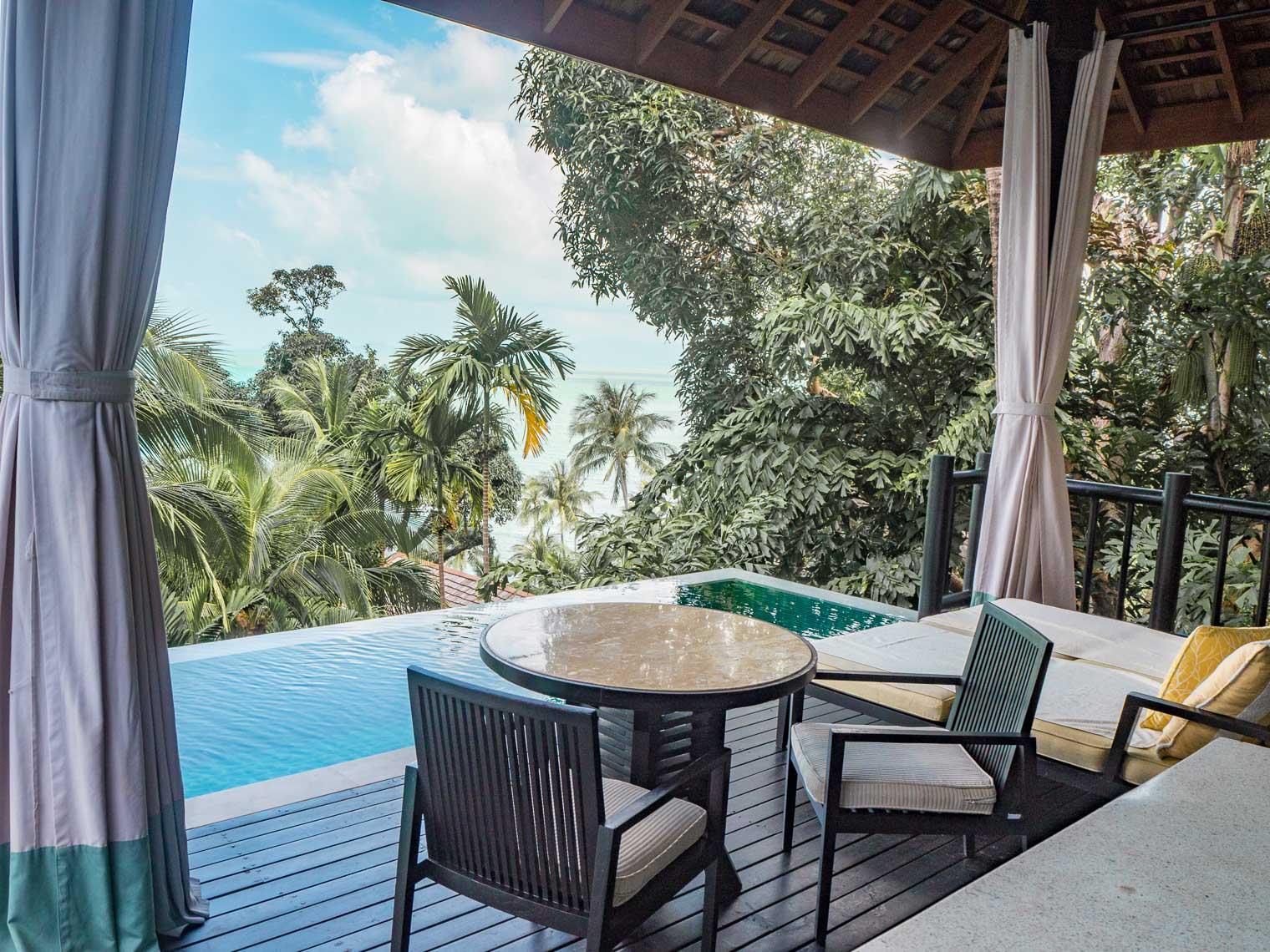 Terrace at Four Seasons Koh Samui private villa