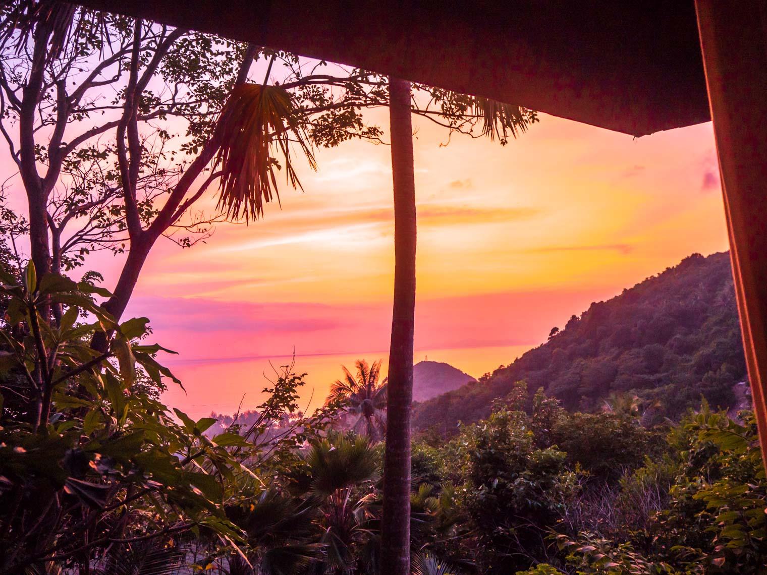 Sunset at Koh Samui Four Seasons hotel