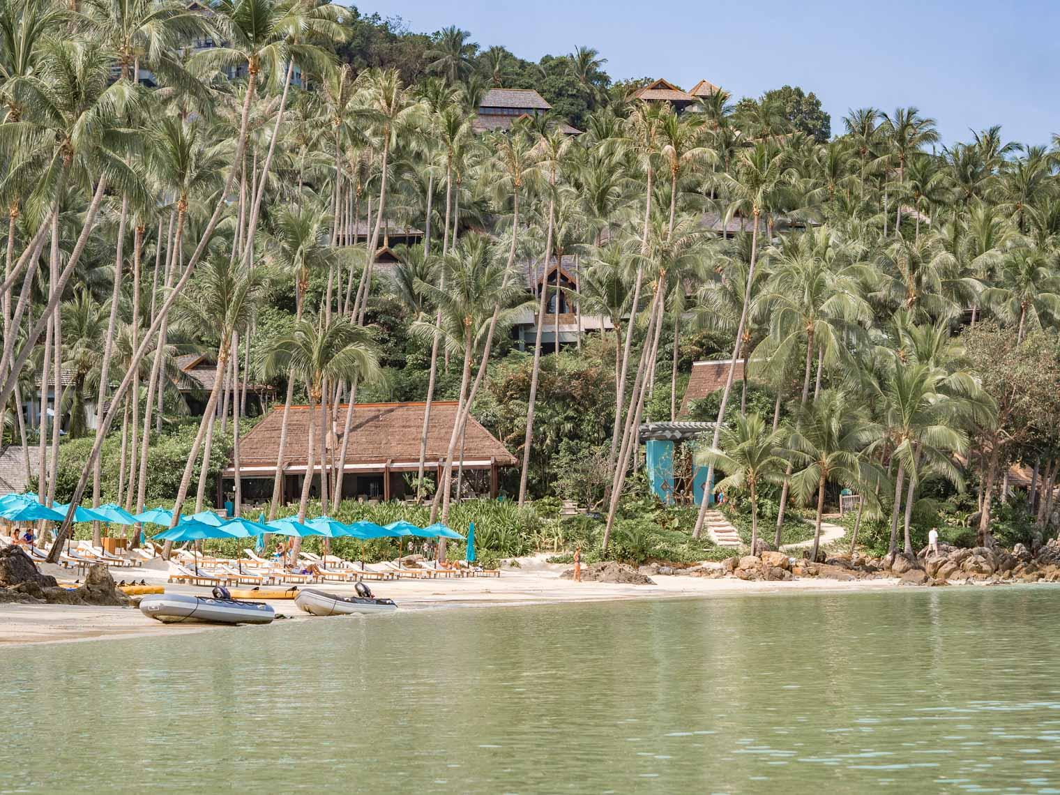 Private beach at Four Seasons hotel Koh Samui Thailand