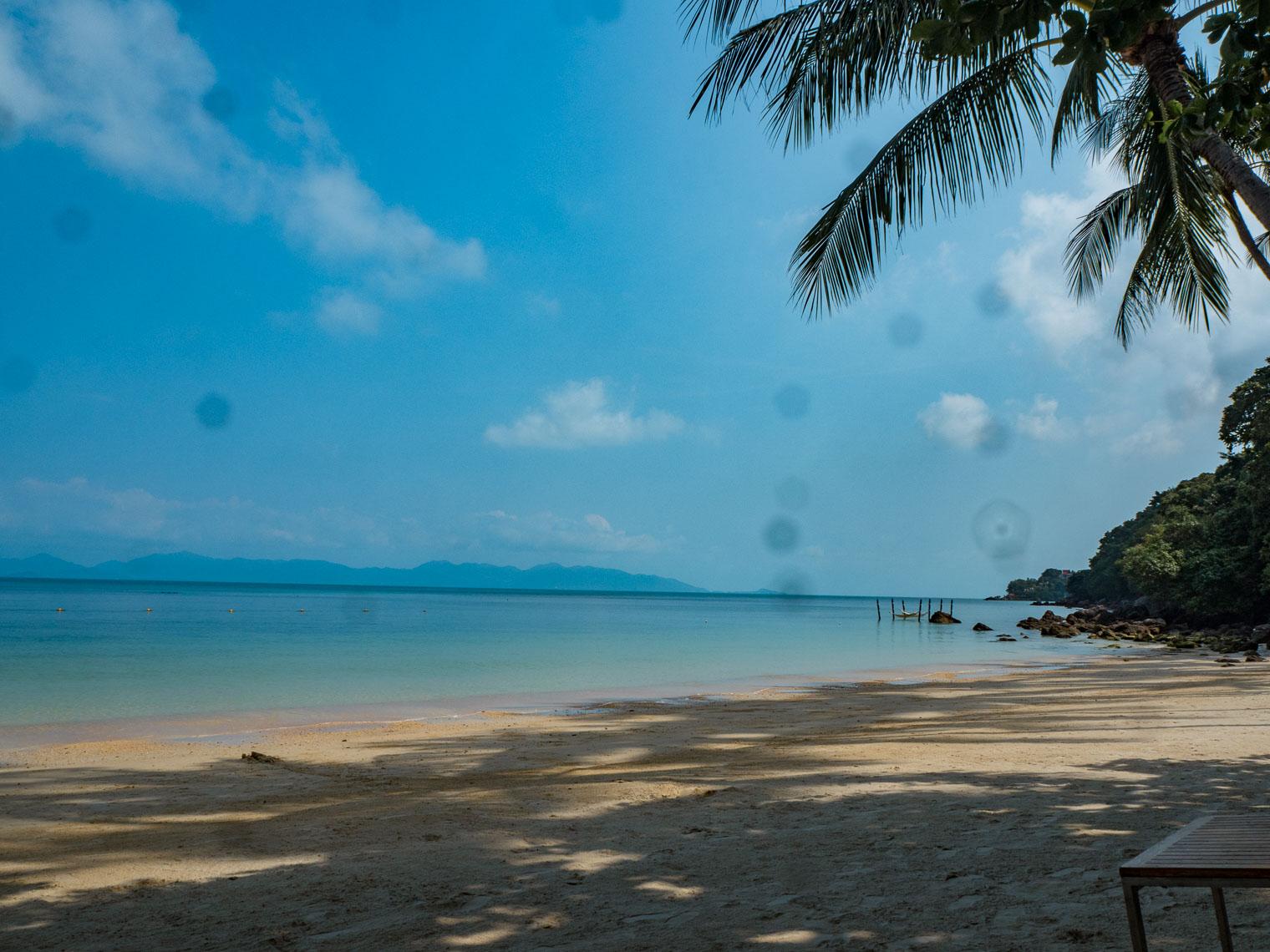 Private beach at Four Seasons resort Koh Samui