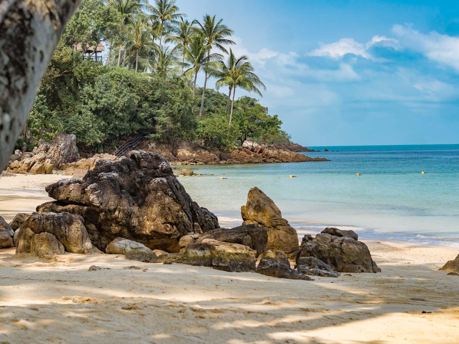 Beach at Four Seasons hotel Koh Samui