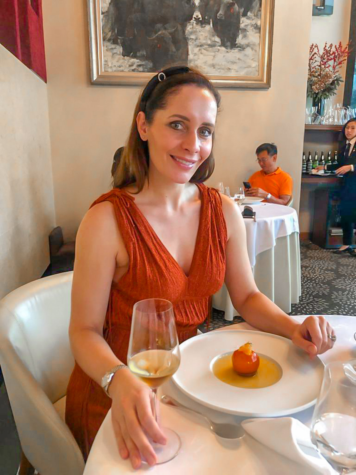 Restaurant review Les Amis in SIngapore French restaurant with two Michelin stars