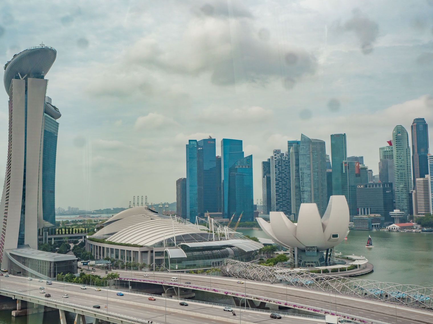 Singapore view at Marina Bay Sands