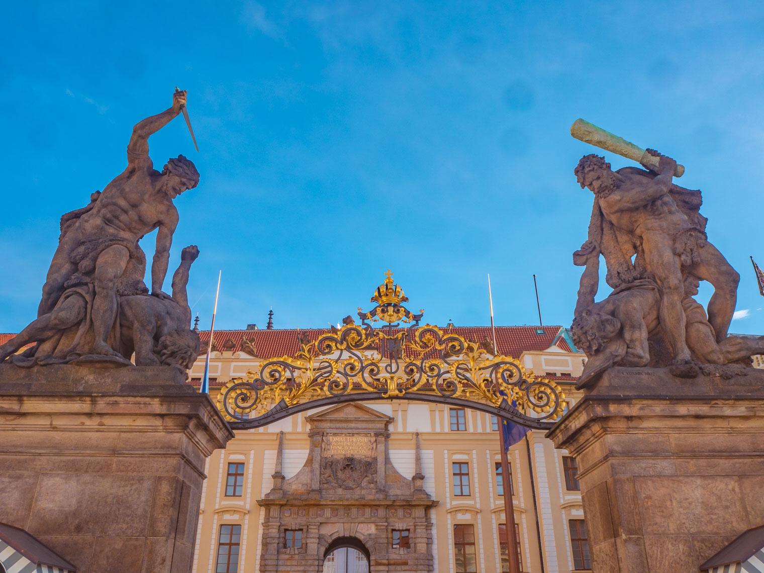 Entrance gate to Prague Castle