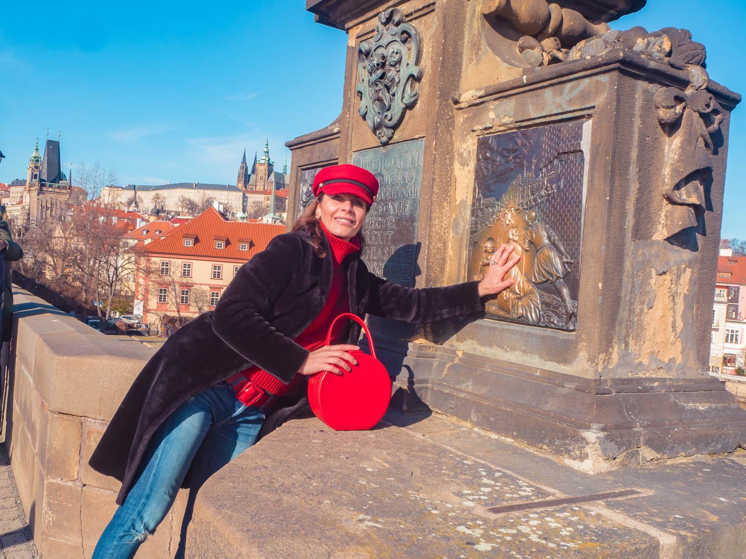 Make a wish at Charles Bridge Prague