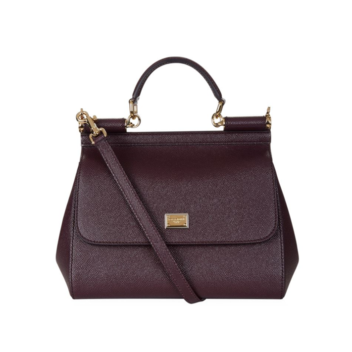 Dolce and Gabbana Sicily Medium bag burgundy