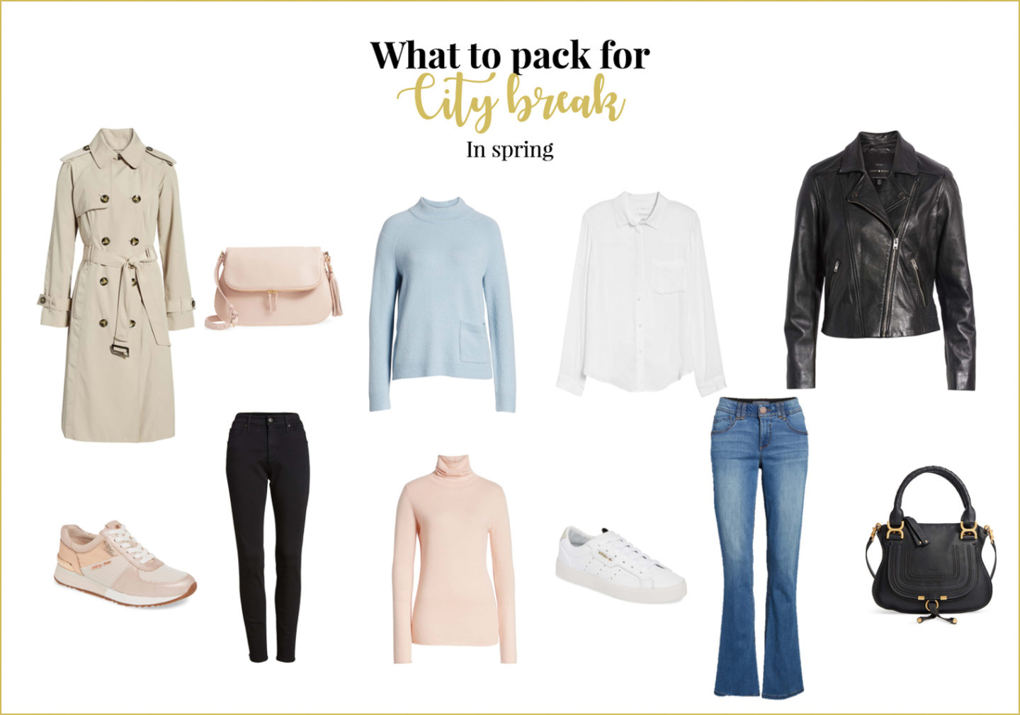 Planning a long weekend? Here is your city break packing list for spring.