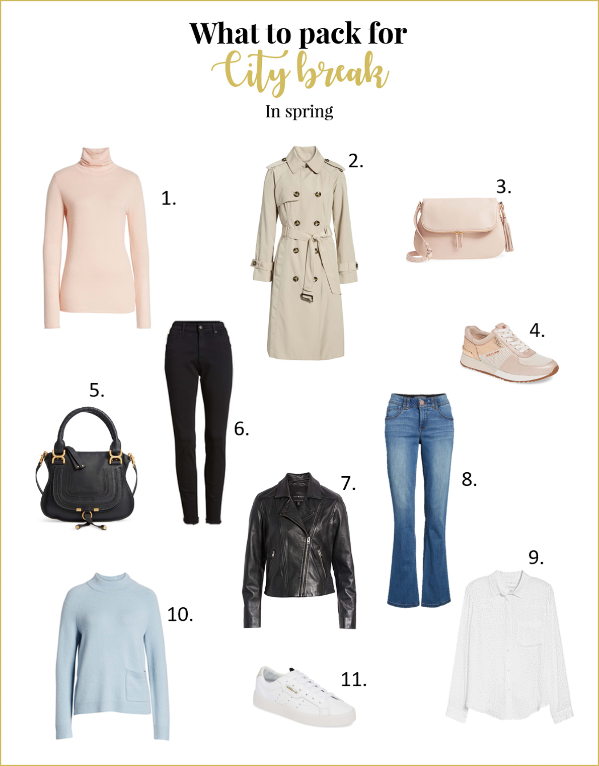What to pack for your city break in spring