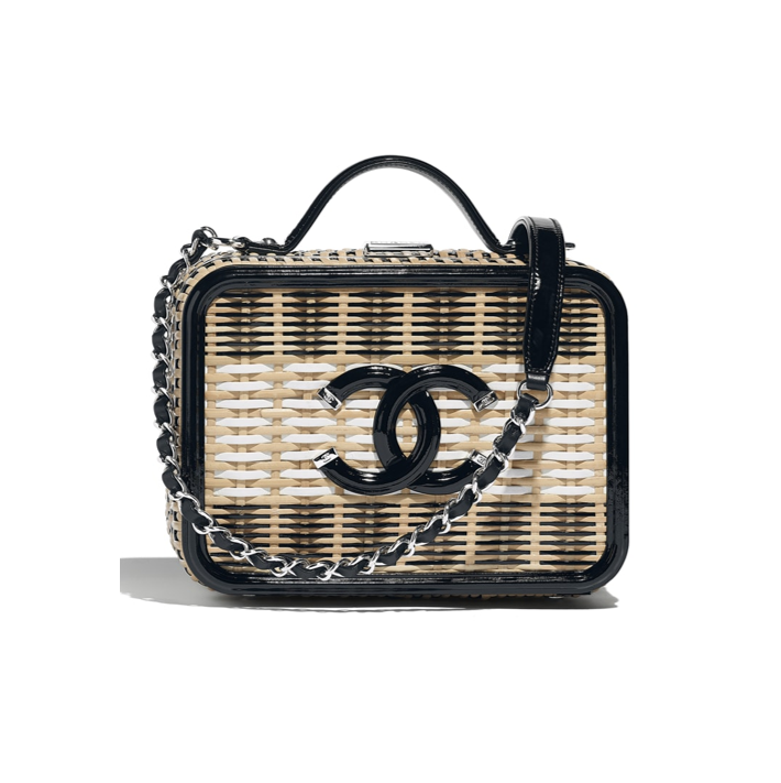 Chanel Vanity case black rattan summer collection 2019
