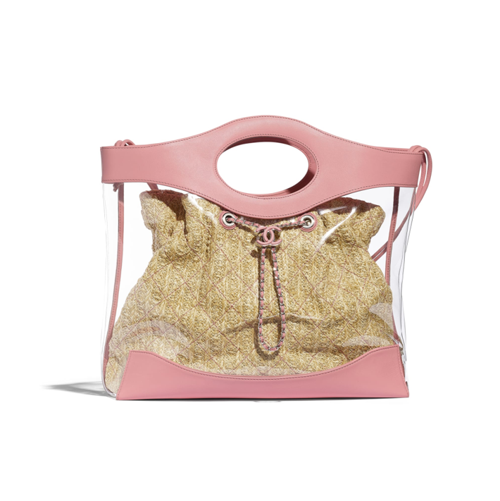 Transparent Chanel shopping bag in pink 2019
