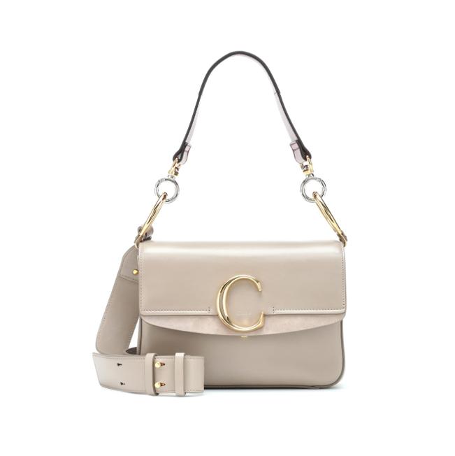 CHloe C shoulder bag light grey