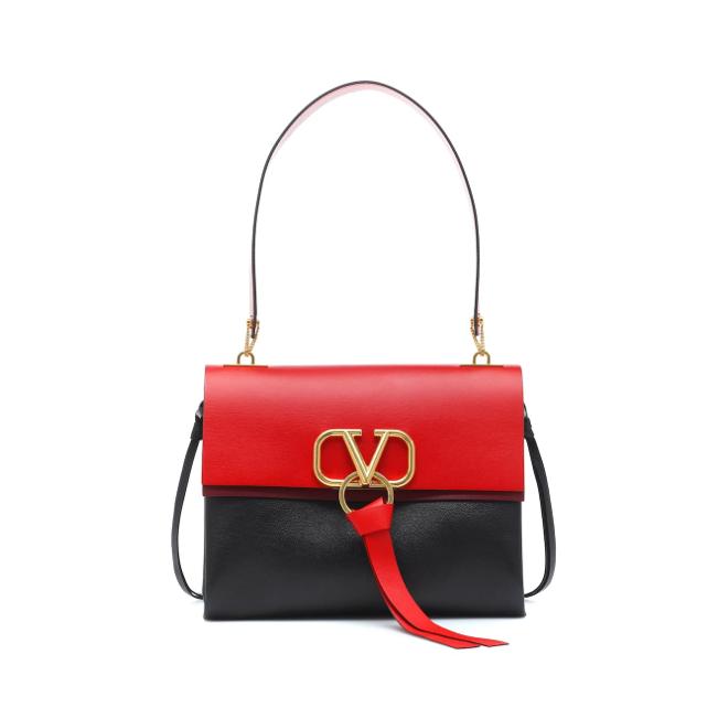 Valentino Garavani VRING shoulder bag black and red