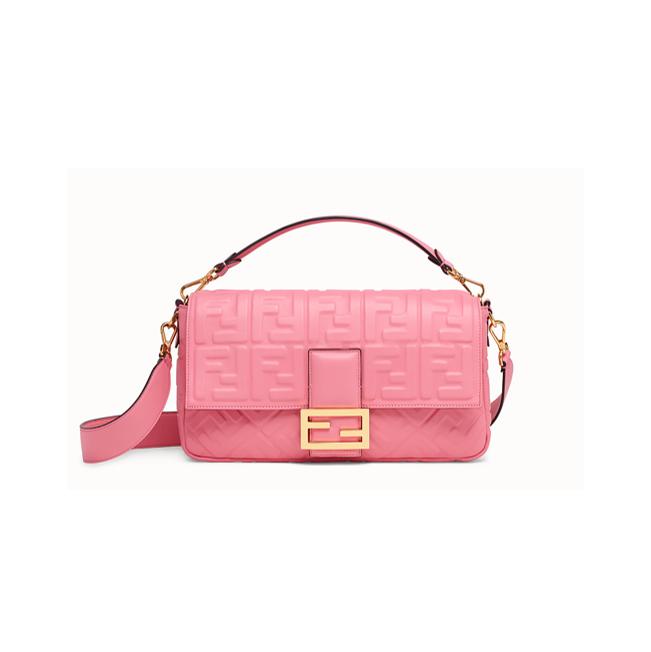 Fendi Baguette large pink bag