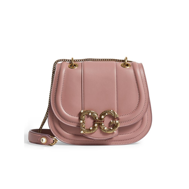 Dolce & Gabbana Amore saddle bag dust pink