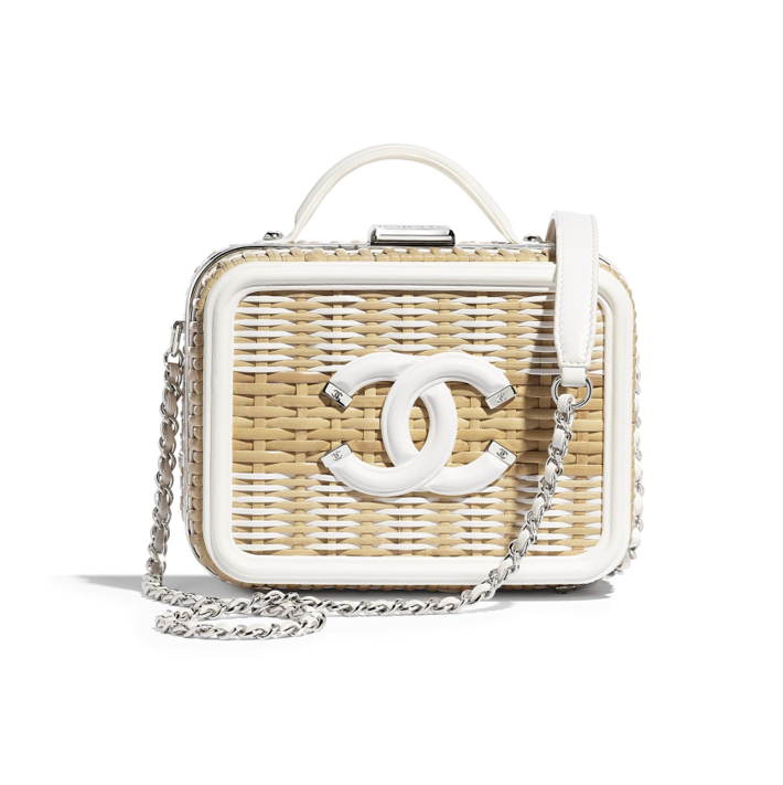 Chanel Vanity Case white rattan summer collection 2019