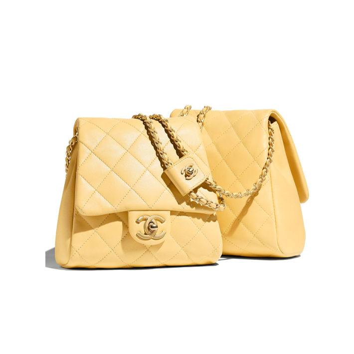 Chanel side packs yellow