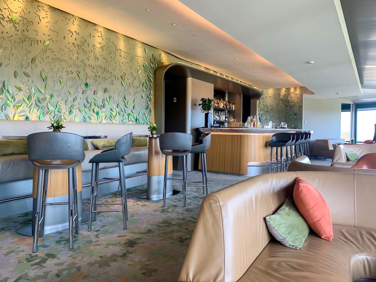 Contemporary Il Giardino bar at Hotel Eden Rome Italy