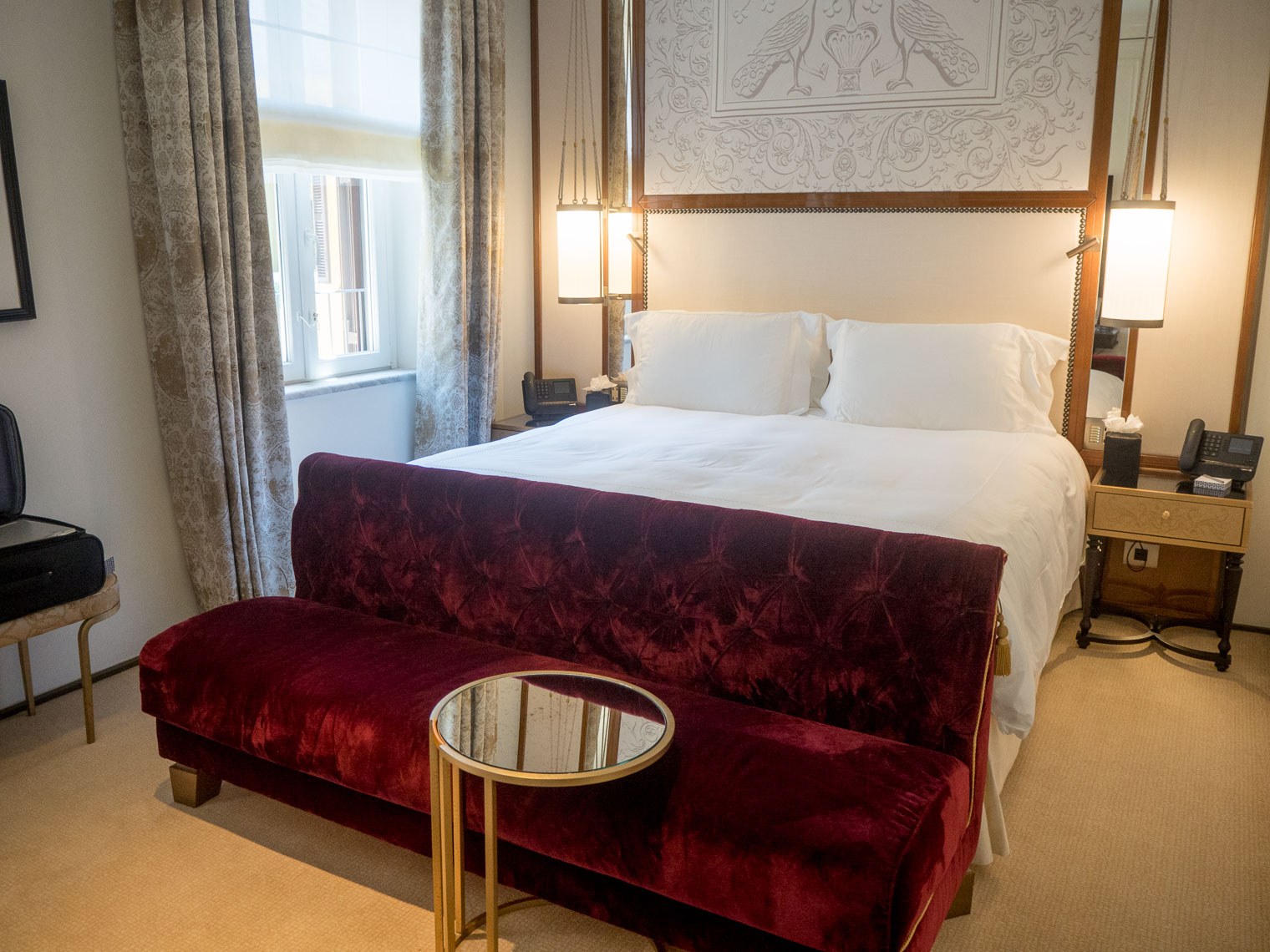 Rooms at the Hotel Eden Rome Dorchester collection