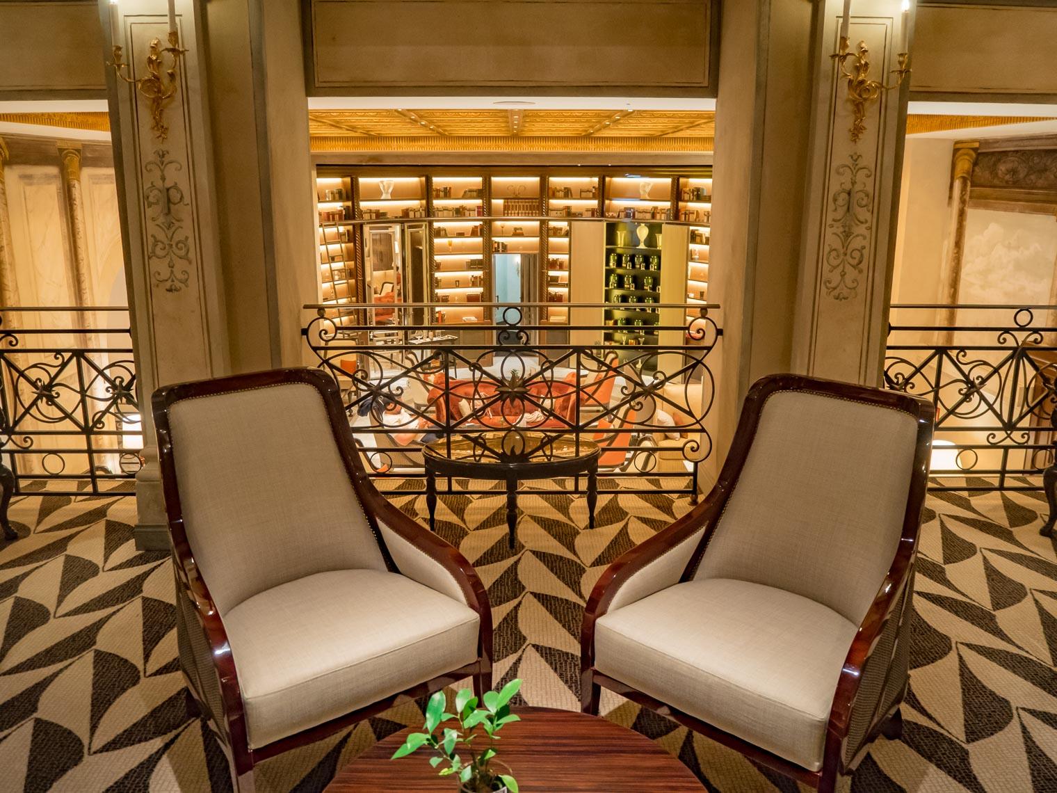Interior design at the hotel Eden Rome Dorchester Collection