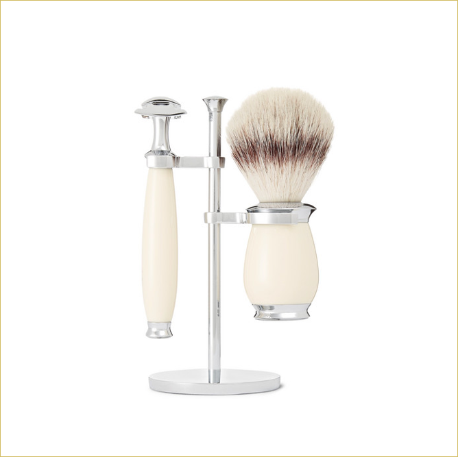 Muhle shaving kit white and silver