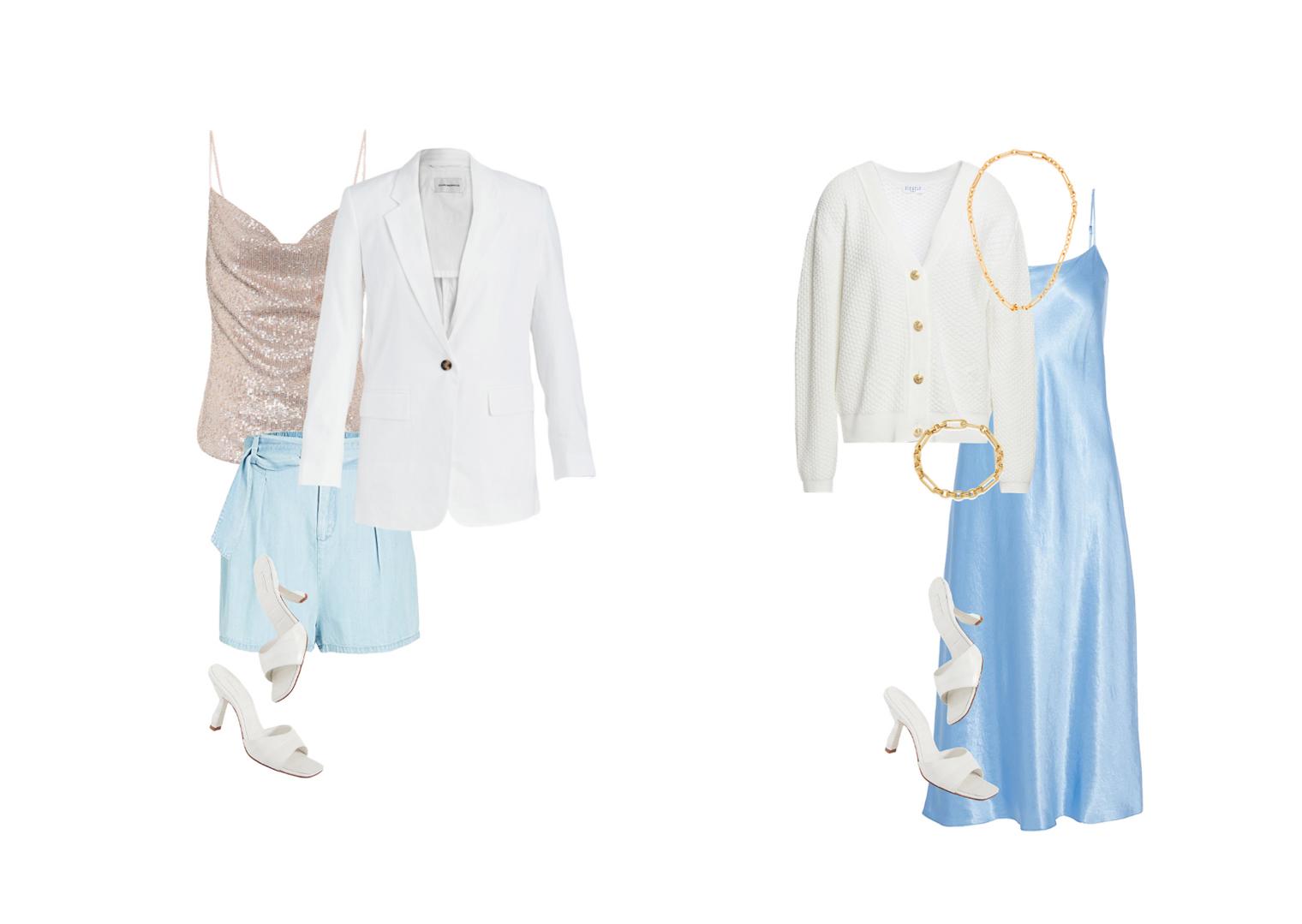 Summer wardrobe looks 2020 with slip dress